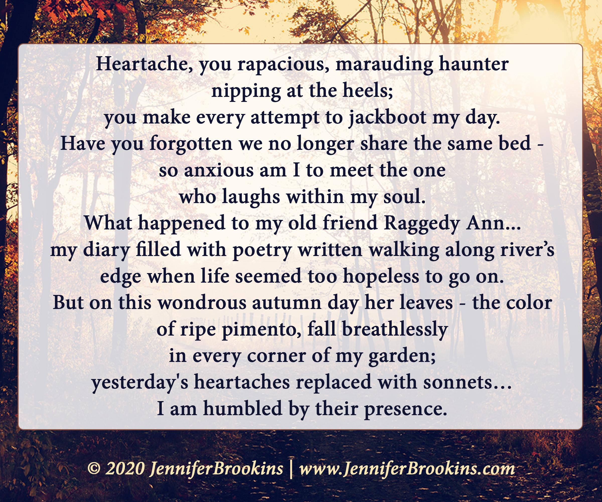 poetry by jennifer brookins